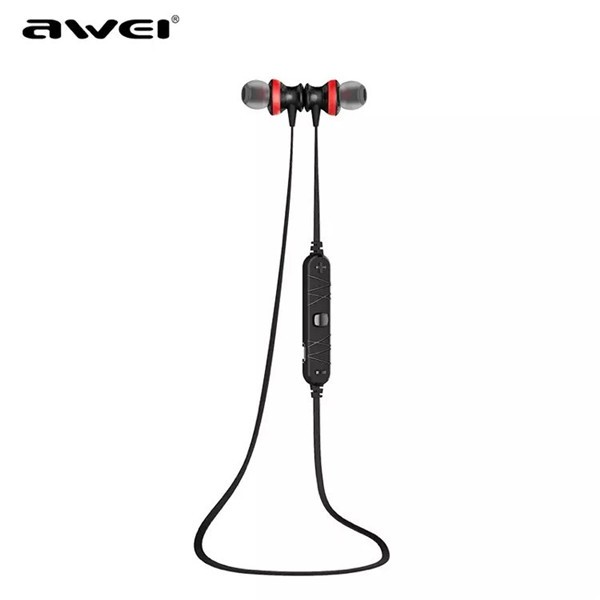 AWEI A980BL Wireless Bluetooth 4.0 Magnetic Sports Noise Isolation In-ear Headphone