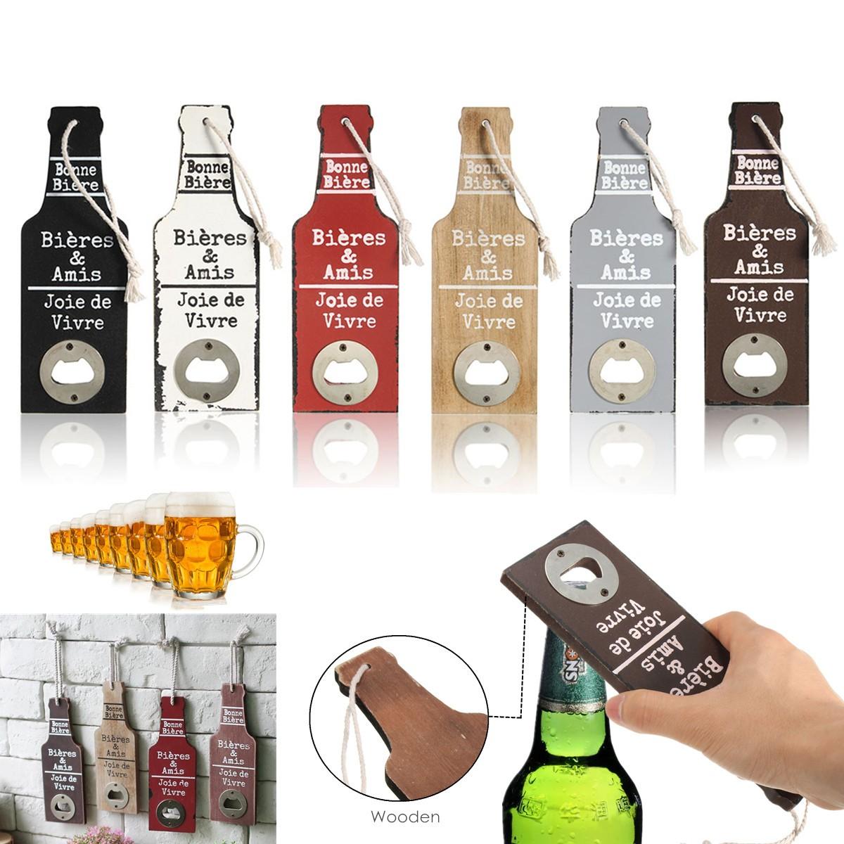 other gadgets vintage wooden wall hanging bar pub beer soda top bottle opener cap catcher gift. Black Bedroom Furniture Sets. Home Design Ideas