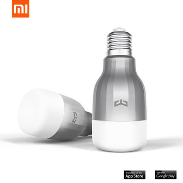 Original Xiaomi mi yeelight 9w rgb E27 LED Control inalámbrico wifi lámpara de luz inteligente AC220V bombilla