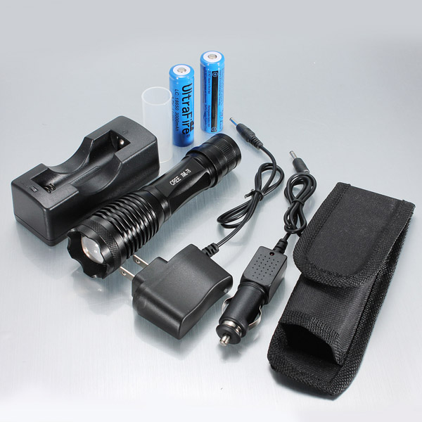 CREE XM-L T6 900LM 5 Mode Zoomable LED Flashlight 1x18650/AAA