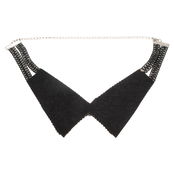 Rhinestone Beads Fake Collar Necklace