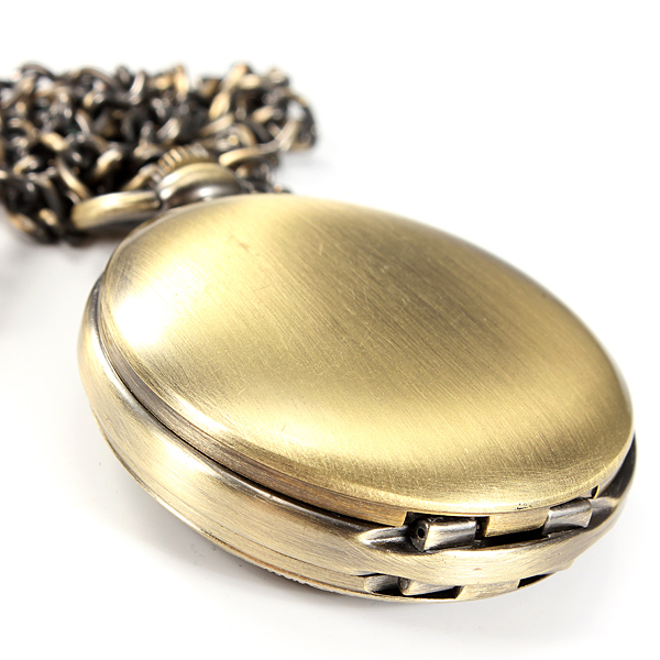 Double Open Mechanical Pocket Watch