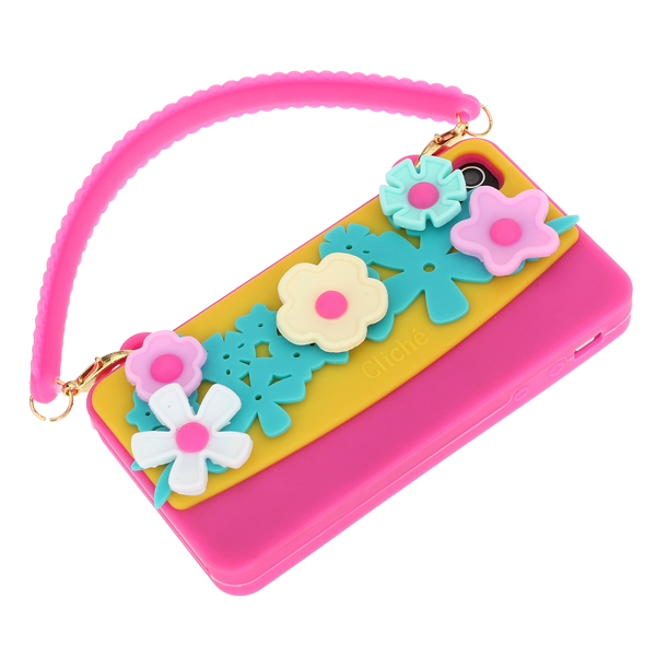 Sunflower Handbag Design Silicone Soft Case Cover For iPhone 4 4S