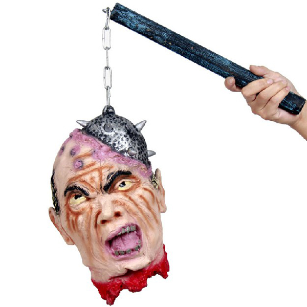 Halloween Supplies Decorative Props Mace Hanging Ghost Head