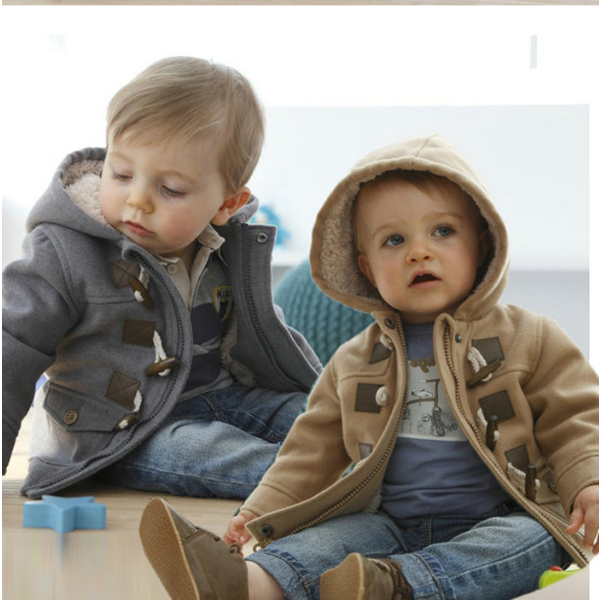 Children Hoody Upper Outerwear Boy Warm Overcoat Jacket