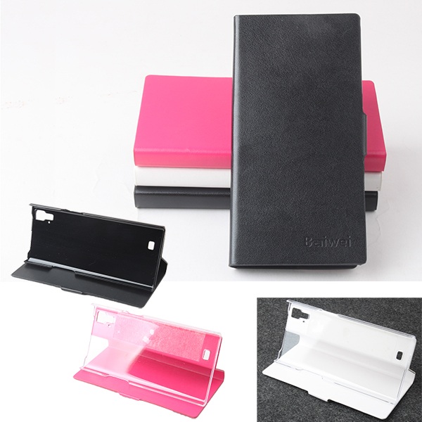 Flip PU Leather Stand Back Protective Case For THL T100S T11
