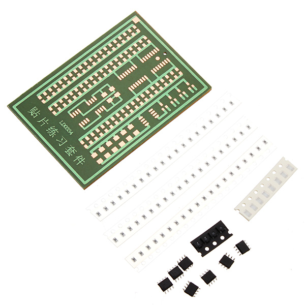 2Pcs SMD Soldering Practice Kit Patch Welding Kit Soldered Learning Kit