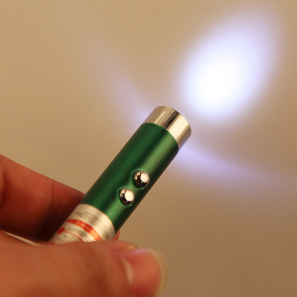 3in1 0.5mW Mini Red Laser Pointer White LED Flashlight