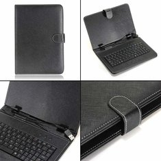 US Folio PU Leather Keyboard Case Cover For 8/9/9.7/10 Inch Tablet