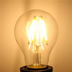 A60 E27 4W White/Warm White Non-Dimmable COB LED Filament Retro Edison Bulbs 220V
