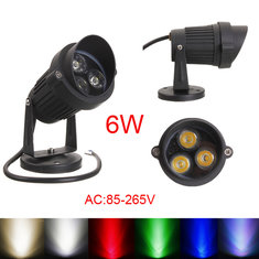 6W LED Flood Spot Light With Cap For Landscape Garden IP65 AC 85-265V