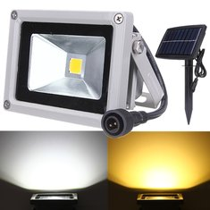 10W Solar Power LED Flood Light Waterproof Outdoor Landscape Spotlight