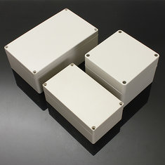 Waterproof ABS Plastic Electronic Box White Case 6 Size