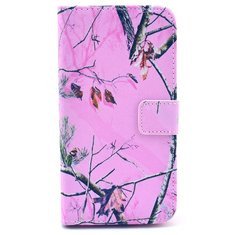 Pink Branch TPU Leather Protective Case
