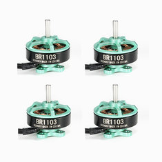 4X Racerstar Racing Edition 1103 BR1103 6500KV 1-2S Brushless Motor Green For 50 80 100 Multirotor