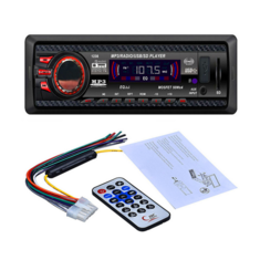 12V Car Stereo FM Radio MP3 Audio Player USB/SD/AUX/APE/FLAC Car Electronics Subwoofer Dash FMAUX