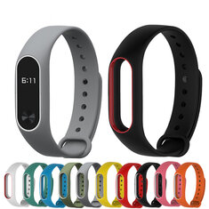 Bakeey™ Double Color Replacement Silicone Wrist Strap for XIAOMI Miband 2