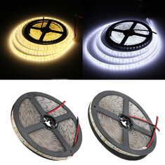 5M 48W DC12V 600 SMD 2835 Waterproof IP65 White/Warm White Tape LED Flexible Strip light