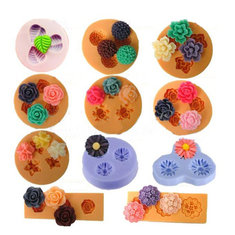 Chocolate Jelly 3D Mold Mini Silicone Fondant DIY Flower Cake Mold Creative Baking Accesseries