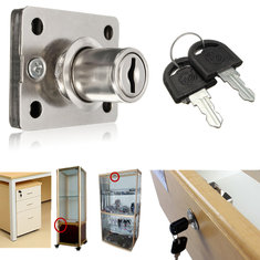 Desk Drawer Dead Bolt Lock For Drawers Box Cabinet Cupboards Panel with Two Keys