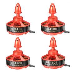 4X Racerstar Racing Edition 4108 BR4108 380KV 4-12S Brushless Motor For 500 550 600 RC Frame Kit