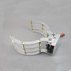 White Intelligent Half Elliptical Mechanical Gripper for RC Models