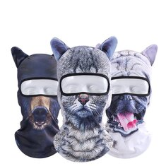 Unisex Motorcycle Face Mask 3D Animal Ear Balaclava Neck For Halloween Christmas Party Skiing
