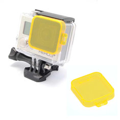 Yellow Underwater Sea Dive Color Camera Filter for Gopro HD Hero 3 Plus