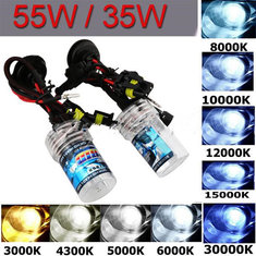 12V 55W H7 HID Bi-Xenon Kit slim digital Ballast Conversion Bulbs Lights