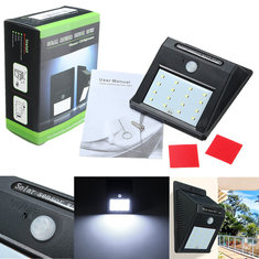 Outdoor Waterproof 16LED Solar PIR Motion Sensor Garden Security Wall Lamp Light