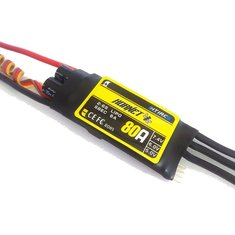 Htirc Hornet Series 80A 2-6S Brushless ESC With 5.0/6.0/7.4V 6A SBEC For RC Airplane