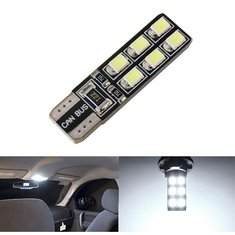 Car White Light T10 LED 2835-12 SMD CANBUS W5W 194 168 Door Map Bulb