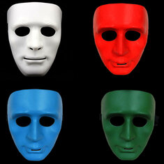 Luminous Mask Halloween Dancer Mask Cos-play Ghost Festival Make Up Reflective Mask