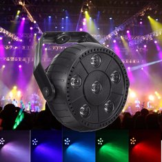 9W 7 Color Changing LED Voice