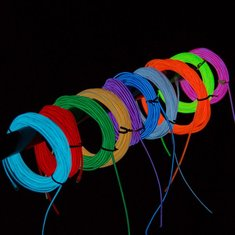 1M 10 colors 3V Flexible Neon EL Wire Light Dance Party Decor Light Battery-powered Controller