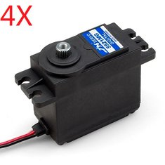 4X JX PDI 5521MG 20KG High Torque Metal Gear Digital Servo For RC Model