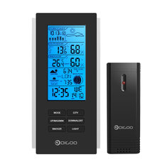 Digoo DG-TH6699 Wireless Weather Station Barometer Forecast Thermometer USB Outdoor Sensor Clock