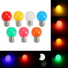 E27 1W Frosted Orange Rose White Red Green Blue Yellow  LED Globe Light Bulb AC220V