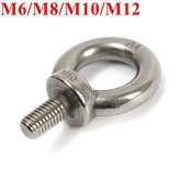 Metric Thread Stainless Steel Lifting Eye Bolt Eyebolt Ring Screw M6/M8/M10/M12