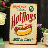 Hot Dogs Sheet Metal Drawing Retro Metal Painting Pub Club Cafe Home Poster Sign Tin Decor