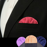Dot Polyester Silk Wedding Men Suit Pocket Square Party Tuxedo Handkerchief