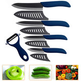 kitchen Black Blade Ceramic Knife Set Blue Ceramic Peeler