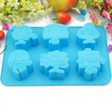 Microwave Oven Silicon Creative Cartoon Cake Mold Baking Tools