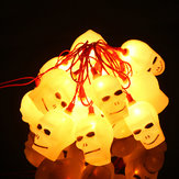 Halloween LED Flashing Skull Heads String Lights 220V-16 Leds