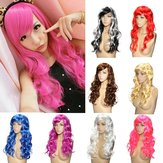 8 Colours Colorful Curly Hair Party Cosplay Long Wavy Wigs