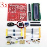 3Pcs Orignal Hiland DIY Multifunction Transistor Tester Kit For LCR ESR  PWM Generator M328