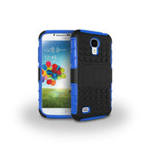 Tyre Pattern TPU PC Bracket Cover Case For Samsung Galaxy S4 i9500