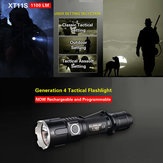 KLARUS XT11S XP-L HI V3 1100LM Classic Tactical Setting Outdoor LED Flashlight 18650