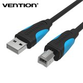 Vention VAS-A16 USB 2.0 Cable A Male to B Male Cord Black/White for Printer/Scanner