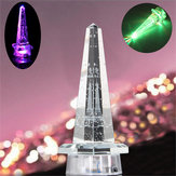 Romantic Crystal Eiffel Tower LED Night Light Desk Table Lamp Gift Bedroom Decor